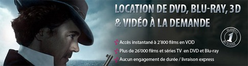 Location Blu-Ray et Blu-Ray 3D à distance